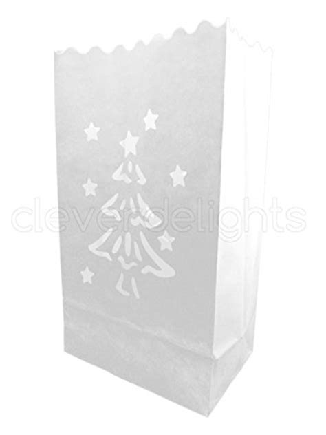cleverdelights white luminary bags 100 count christmas