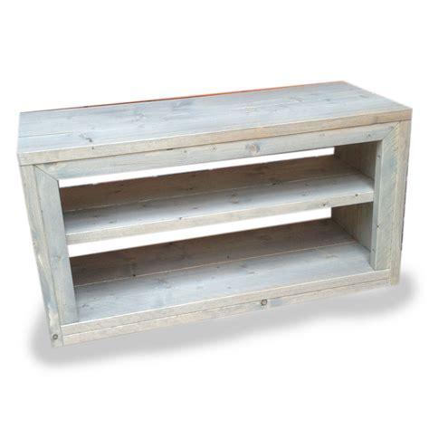 zelfbouw audio meubel cool steigerhout tv meubel phony nieuw hout en behandeld