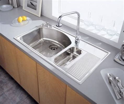 kitchen stainless steel sinks stainless steel kitchen sink with drainboard