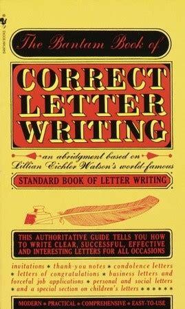 bantam book  correct letter writing  lillian eichler