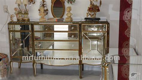 mirror finish bedroom furniture bedroom mirrored furniture large console with antique gold