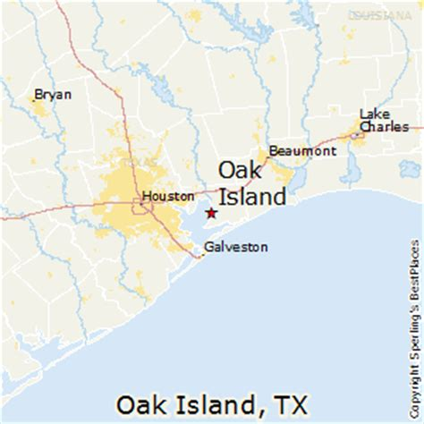 map of oak texas best places to live in oak island texas
