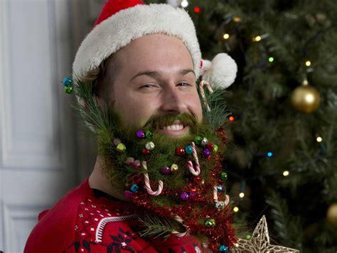decorate beard for christmas hipster christmas beard decorations business insider