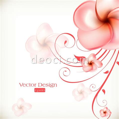 beautiful pink flower background design template eps