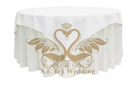 what size overlay for 72 table 72 size 100 polyester table overlay in white or black
