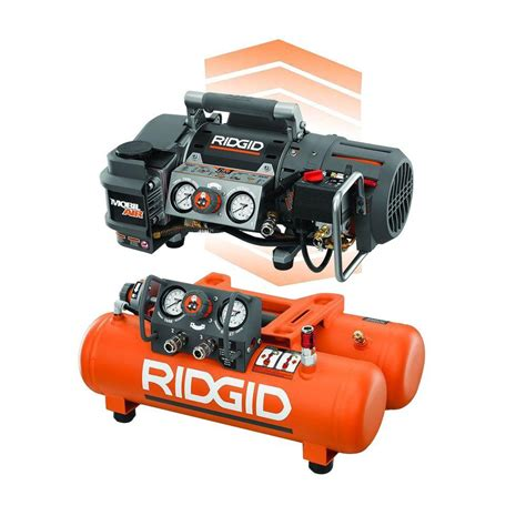 RIDGID Tri Stack 5 Gal. Portable Electric Steel Orange Air Compressor OF50150TS   The Home Depot