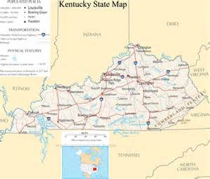 State Of Kentucky Map kentucky state map a large detailed map of kentucky