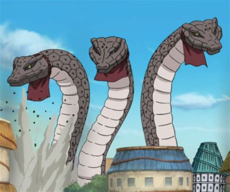 giant snakes narutopedia fandom powered  wikia