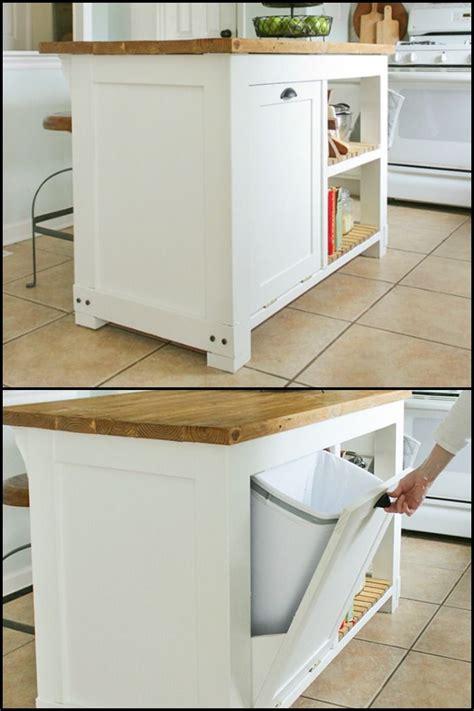 Kitchen Island With Trash Storage by Build A Kitchen Island With Trash Storage Diy Kitchen
