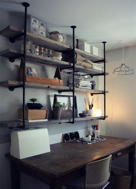 home shelving sylvie liv industrial rustic shelf tutorial