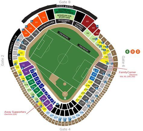 yankee stadium map nycfc seating chart yankee stadium soccer seating chart