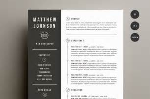 minimalist resume template indesign gratuit macy s wedding rings resume cover letter template resume templates on creative market