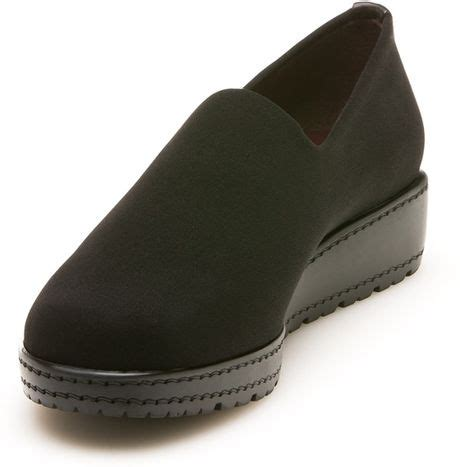 Stuart Weitzman The Sofa Loafer In Black Black Micro Lyst