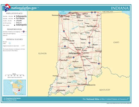 political map of indiana scubish political information for indiana