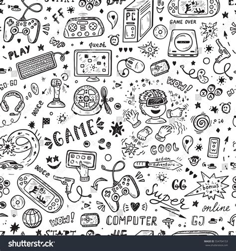 Gamis Pattern gadget icons vector seamless pattern stock vector