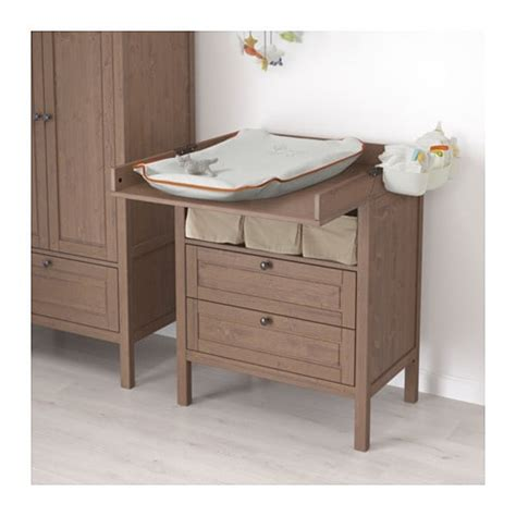 baby changing dresser ikea sundvik changing table chest of drawers grey brown ikea