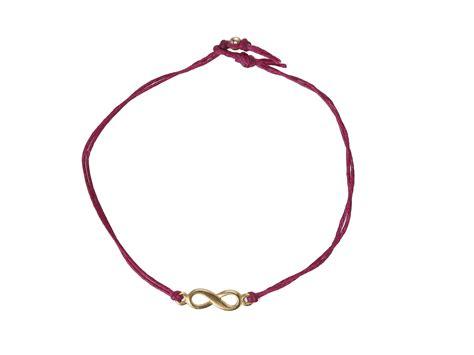 dogeared infinity dogeared infinity linen bracelet gold jewelry