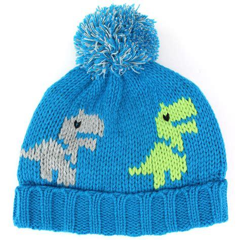 dinosaur knit hat bobble beanie hat chunky knit jiglz childrens dinosaur