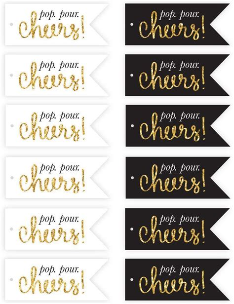 new year printables free new year s chagne flute tags printables http