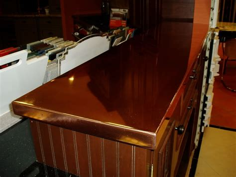 bar top countertop copper countertops brooks custom