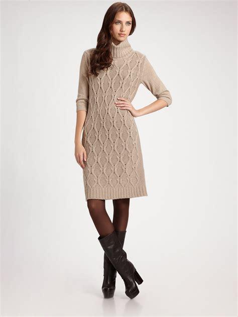 Sweater Dress - weekend by maxmara cableknit sweater dress in lyst