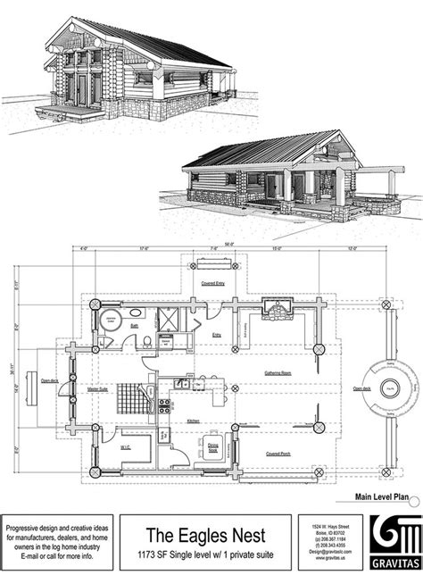 One Story Cabin Plans by One Story Cabin Home One Story Cabin Floor Plans 4