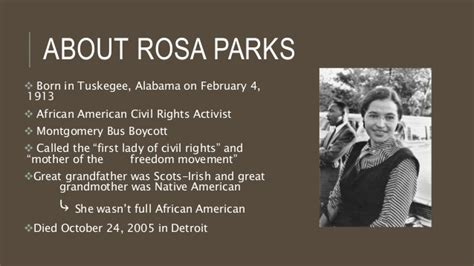 biography in context rosa parks rosa parks ppt