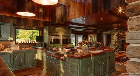 Kitchens Designs Pictures by Syringa Ranch Main Residence Straight Line Building Design