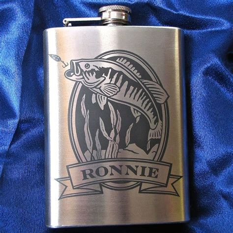 groomsmen fishing gifts personalized flask with trout engraved gift for
