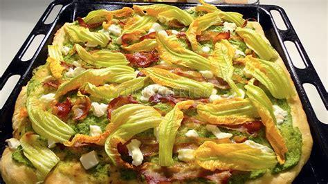 pizza fiori di zucca pizza fiori di zucca e speck croccante cucina per te