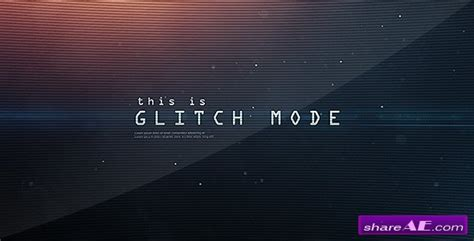 Glitch Mode Text Sequence And Logo Intro After Effects Project Videohive 187 Free After Free After Effects Template Glitch Intro