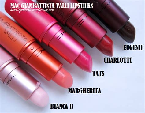 Lipstick Mac Giambattista Valli review swatch mac giambattisa valli lipsticks in all 5