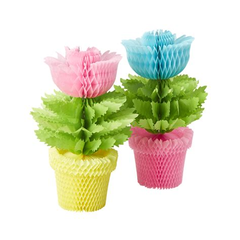 potted paper flower ideas rice dk paper flower pots honeycomb decoration vibrant home