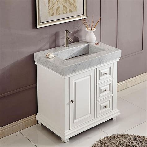 White Modern Bathroom Vanity by 36 Quot Modern Single Bathroom Vanity White