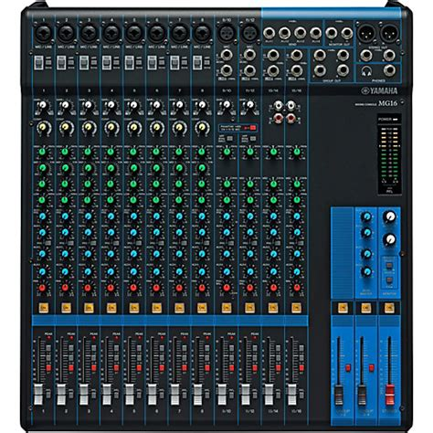 Mixer Audio 16 Channel yamaha mg16 16 channel mixer with compression musician s friend
