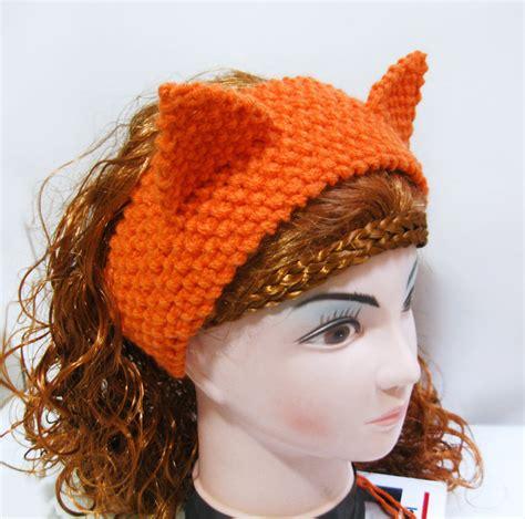 knitting pattern headband ear warmer fox headband ear warmer knitting pattern cat ears headband