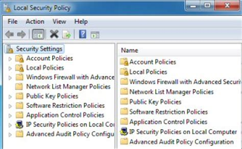 windows 7 secpol msc local security policy editor