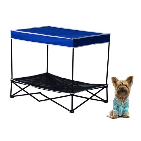 portable dog bed pawhut portable elevated pet bed w oxford cloth cover
