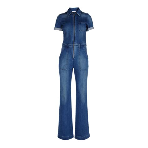 Jumpsuit Blue stella mccartney denim jumpsuit in blue classic blue lyst
