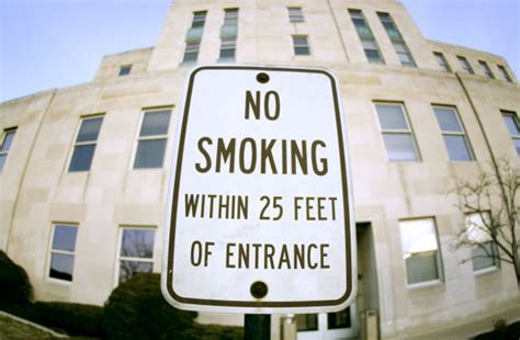 no smoking sign lowes five years later most businesses ok with smoking ban