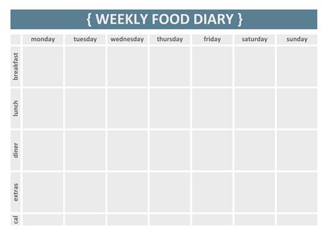 printable food journal 7 best images of easy food diary printable free