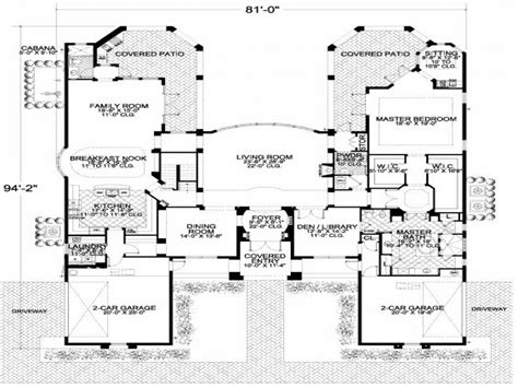 Large One Story Floor Plans | large single story floor plans 3 story brownstone floor plans large two story house plans