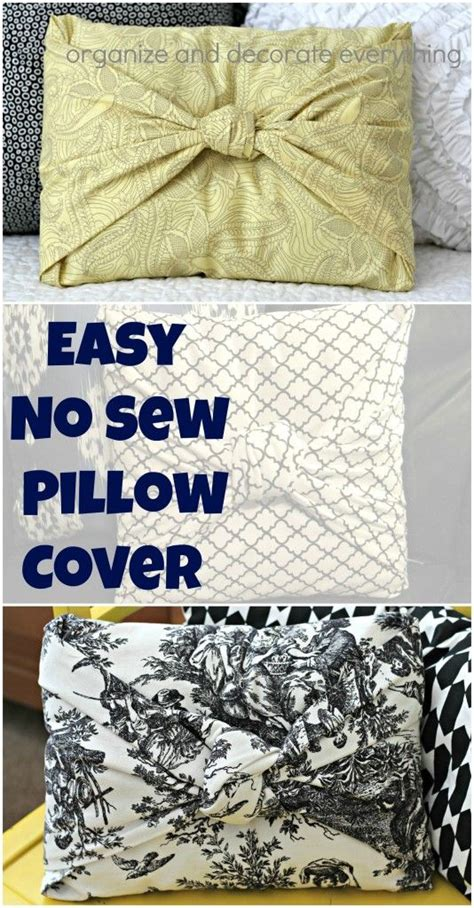 how to cover sofa cushions without sewing easy no sew pillow cover no sewing or gluing just fold