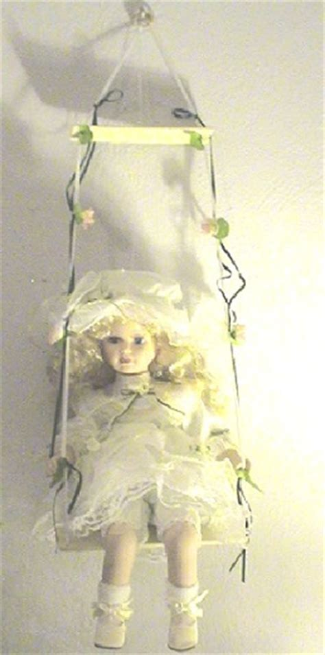porcelain doll on swing vintage collectible 14 quot porcelain doll on a