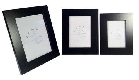 stylish modern black wooden photo wood picture frame