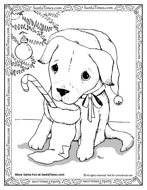 coloring pages dogs christmas christmas puppy free coloring pages on art coloring pages