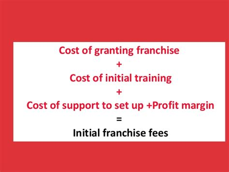 how does a franchisor calculate the initial franchise fees