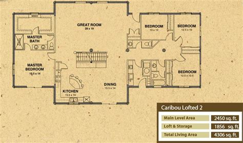 caribou log home floor plan by precision craft caribou floor plan log home