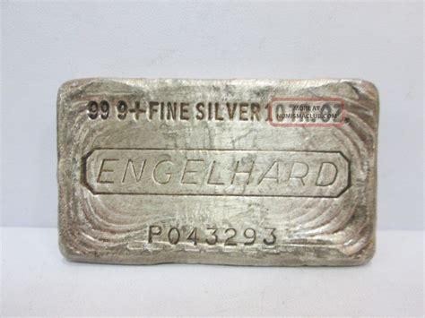 10 Troy Ounce Silver Bar Engelhard - engelhard 999 silver 10 troy ounce bar