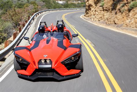 Vehicle With Three Wheels by Polaris Slingshot Is A 173 Hp 20k 3 Wheeled Motorcycle